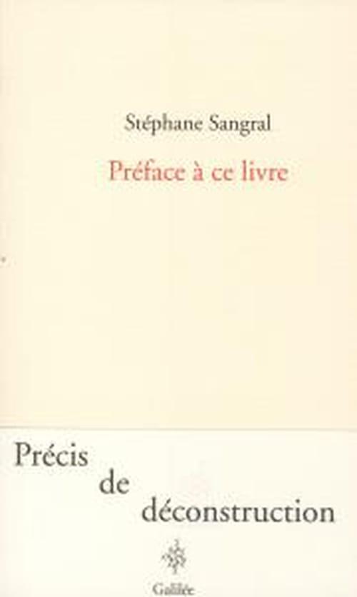 Stéphane Sangral : le livre à venir, la pensée avenir