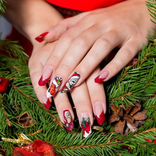 A Nail Art Beauty Salon Fashion Makeover Game For Girls: Unghie Di Natale: Decorazioni O Gel?