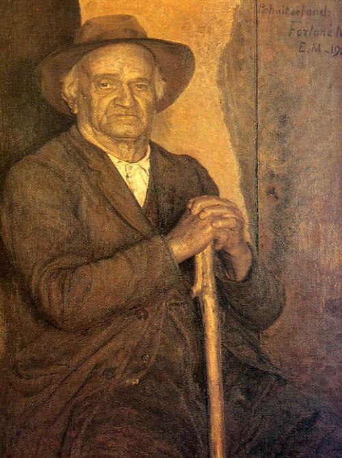 Eugène Martel et le portrait de l'oncle Fortuné