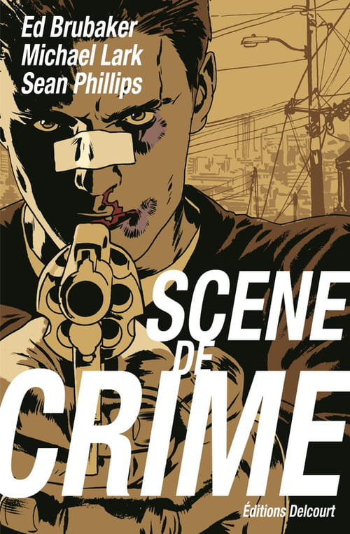 """Scene of crime"", comics version noir"