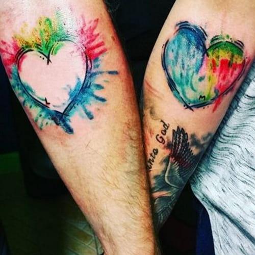 Tatuaggi di coppia idee romantiche per innamorati for Ka che vintage look
