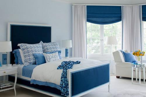 ديكورات المنزل باللون الازرق والابيض صفاء الروح وسعادة