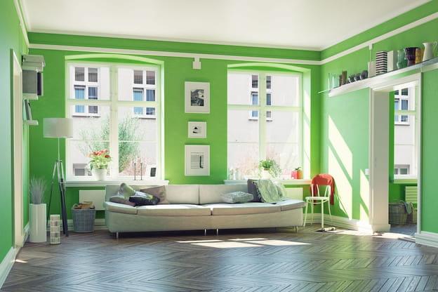 Pareti Salotto Verde : Significato dei colori voce alle pareti del soggiorno