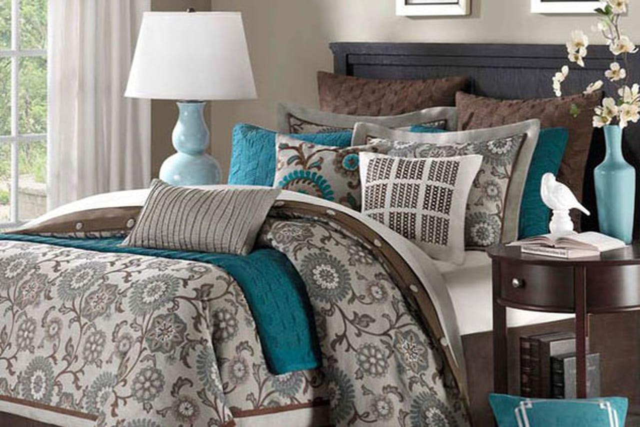 تنسيق الوان الغرف مع الاثاث أفكار لونية جذابة لتنسيق مفروشات غرف النوم تنسيق الوان الغرف مع الاثاث
